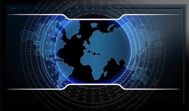 Design digitale dello schermo dell'interfaccia hud futuristico