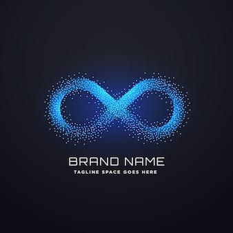 Futuristico infinito logo concept design vettoriale