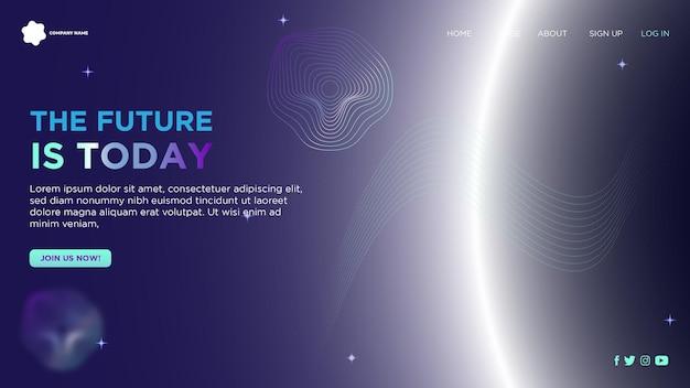 Pagina di destinazione futuristica per il sito web