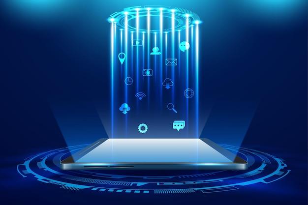 Illustrazione di vettore del telefono cellulare futuristico