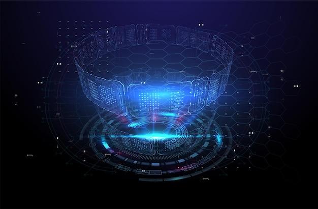 Design moderno e futuristico dello schermo dell'interfaccia hud