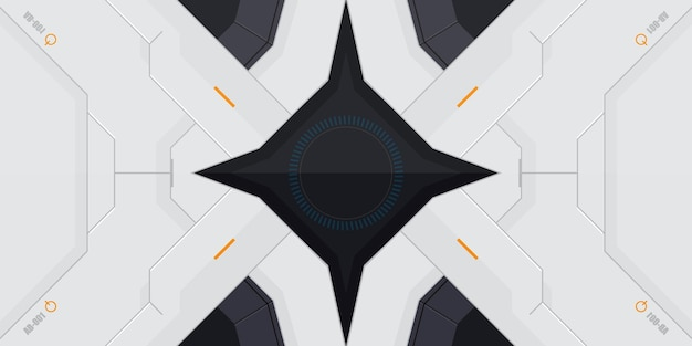 Sfondo di gioco a tema robot futuristico
