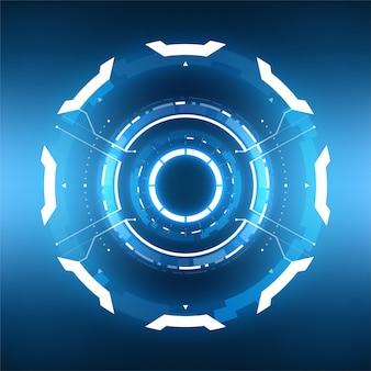 La tecnologia futuristica astratto sfondo circolare.