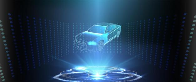 Interfaccia utente futuristica. interfaccia utente dell'interfaccia. interfaccia utente touch grafica virtuale astratta. servizio auto nello stile di hud. interfaccia grafica virtuale ui hud autoscann. vettore
