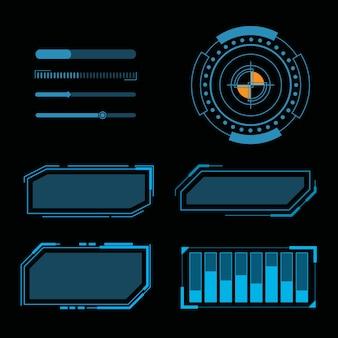 Modello di progettazione dell'illustrazione dell'interfaccia utente futuristica