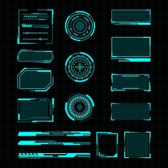 Illustrazione futuristica dell'interfaccia utente