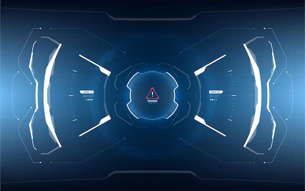 Design futuristico dello schermo dell'interfaccia utente.