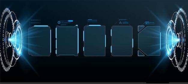 Design futuristico dello schermo dell'interfaccia hud vettoriale