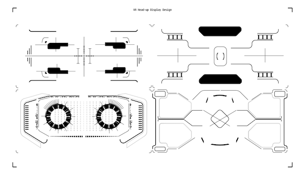 Design futuristico del display head-up vr