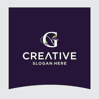 Disegno del logo dell'uva g