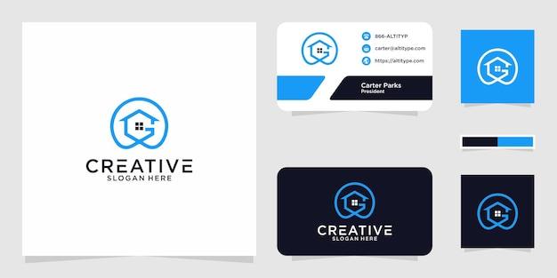 Il design grafico del logo g home per altri usi è perfetto