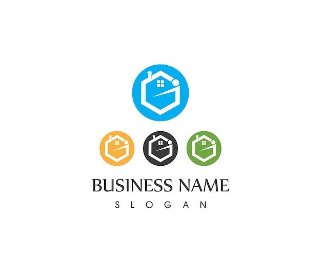 Lettera g costruzione casa logo design
