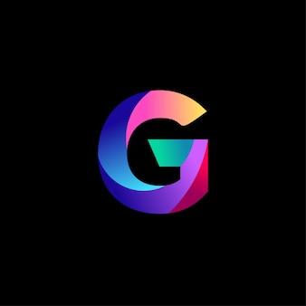 G lettera logo design gradiente colorato