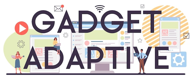 Illustrazione del concetto adattivo del gadget