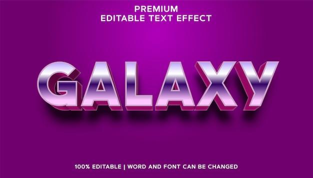 Galaxy - stile effetto testo modificabile