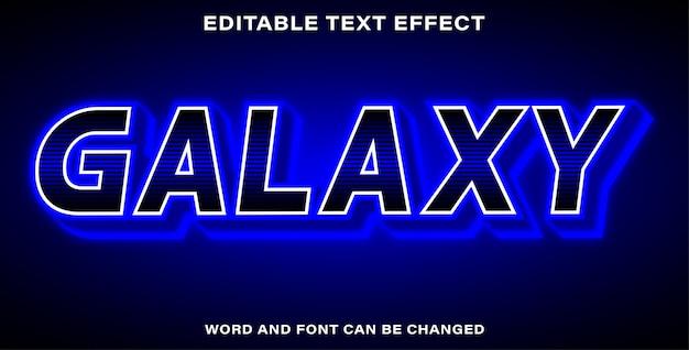 Stile effetto testo galassia