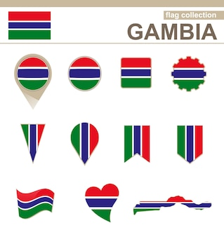 Gambia flag collection, 12 versioni