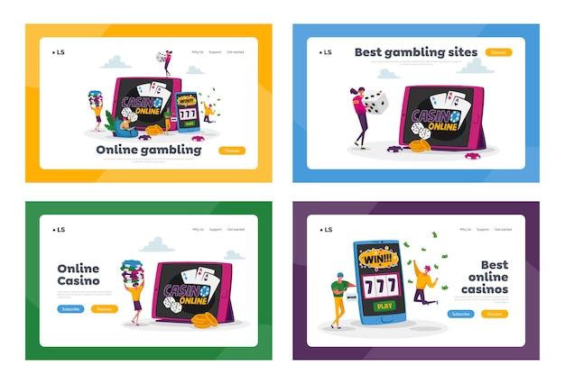 Set di modelli di pagina di destinazione della dipendenza dal giocatore di gioco d'azzardo