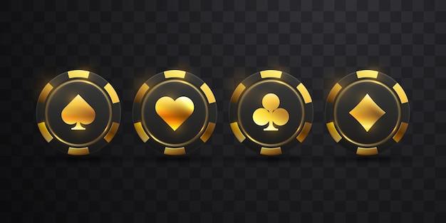 Chip di gioco con il segno dorato della vanga
