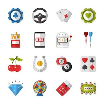 Icone di gioco e poker