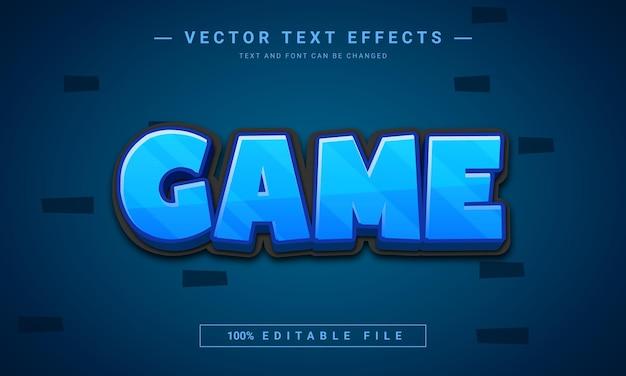 Effetto di testo modificabile 3d del gioco