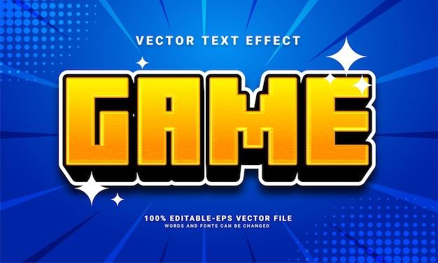 Effetto di testo 3d di gioco, stile di testo modificabile e adatto per le risorse di gioco