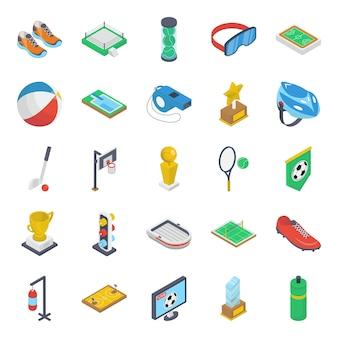 Pacchetto isometrico attrezzatura da gioco
