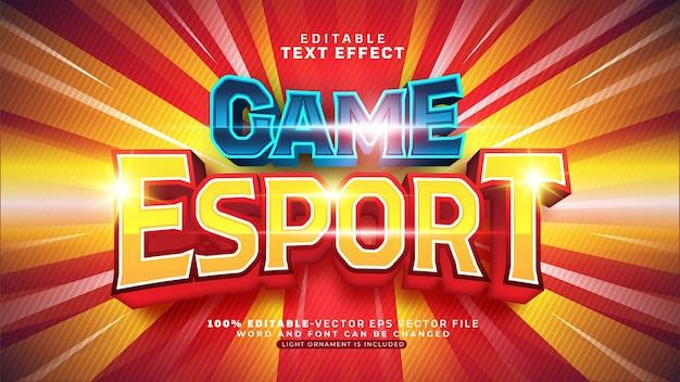 Gioco esport team editable text effect