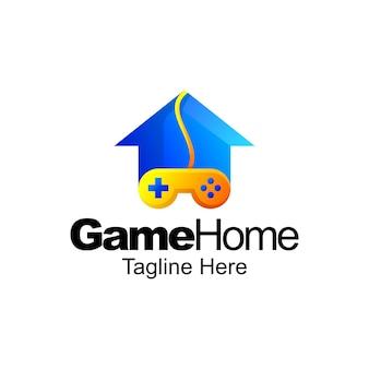 Design del modello sfumato del logo della casa del gioco