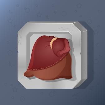 Icona del gioco del sacchetto in stile cartone animato.
