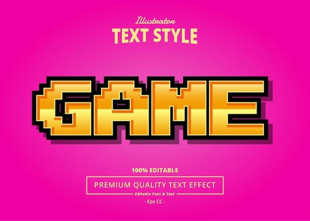 Effetto testo illustratore di gioco