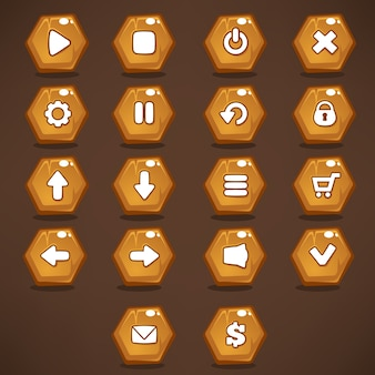 Pulsanti dell'interfaccia di gioco per il tuo gioco per cellulare