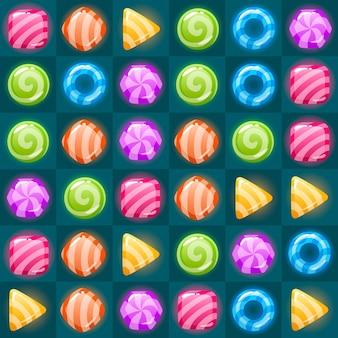 Icona della partita di gioco. set quadrato in diversi colori. illustrazione vettoriale