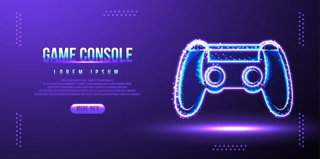 Game pad, console, gioco online, low poly