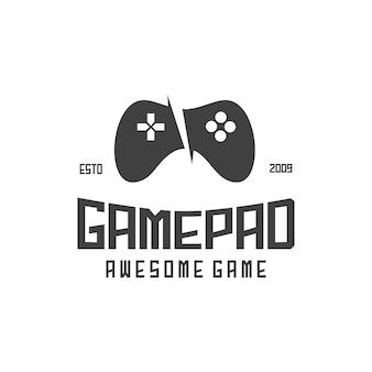 Game pad retro illustrazione silhouette astratto