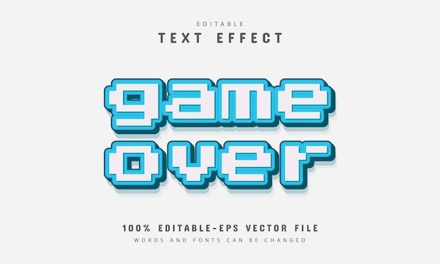 Game over effetto di testo pixel