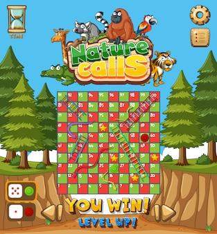 Modello di gioco con foresta