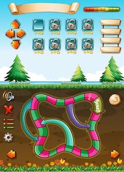 Modello di gioco con vista sotterranea