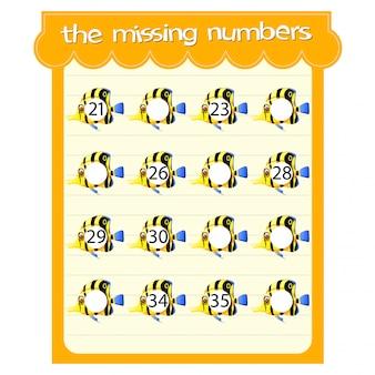 Modelli di gioco con numeri mancanti