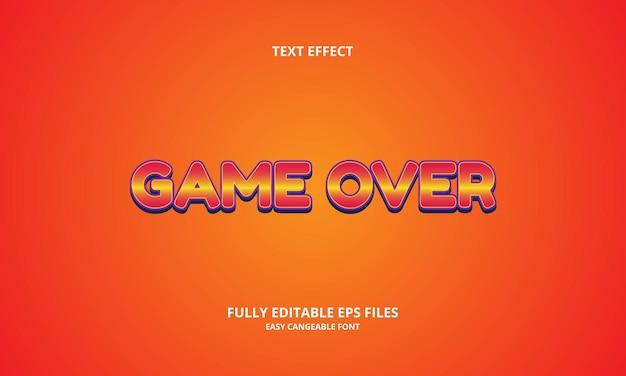 Modello di progettazione dell'effetto del testo del gioco