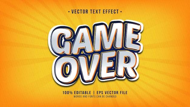 Effetto game over text modificabile