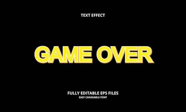 Effetto testo di gioco game
