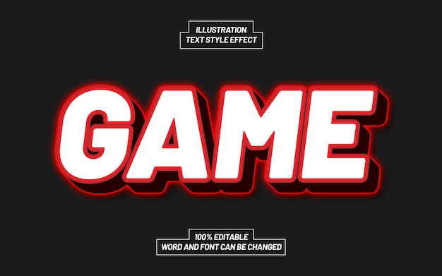 Effetto stile testo di gioco