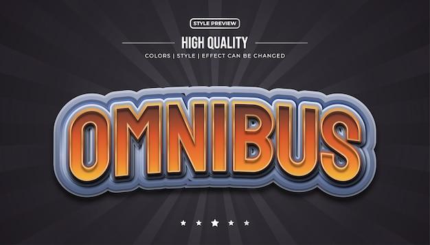 Stile di testo di gioco con effetti 3d in rilievo e curvi per l'identità della squadra di e-sport o il nome del gioco