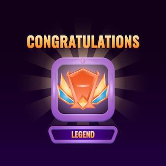 L'interfaccia utente del gioco si è classificata fino all'interfaccia della legenda