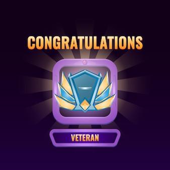 L'interfaccia utente del gioco si è classificata fino all'interfaccia veterana