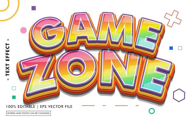 Stile effetto testo della zona di gioco