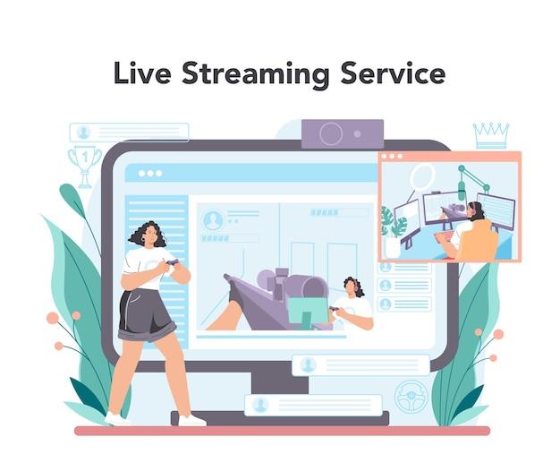 Servizio o piattaforma online del giocatore