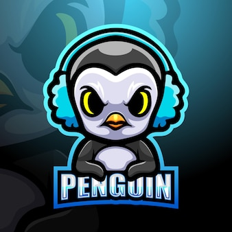 Illustrazione della mascotte del pinguino del giocatore