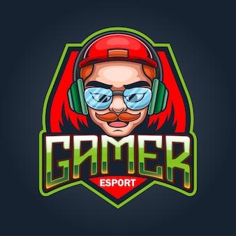 I giocatori esport logo mascotte design